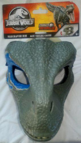Jurassic World Máscara Sencilla Blue Y Indoraptor Precio X