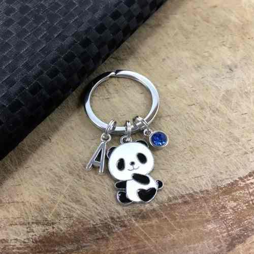 Llavero Panda Oso Dije Llavero Personalizado Letra Regalo