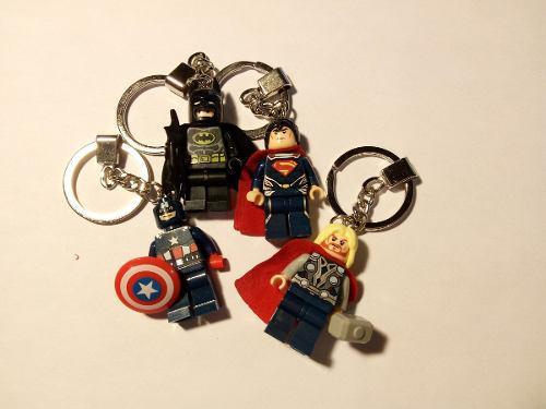 Llavero Super Heroes Compatible Con Lego