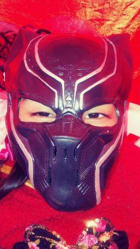Mascara Tipo Luchador De Super Heroe Black Panther Para