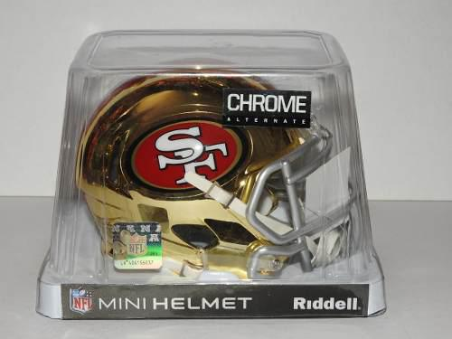00b4ae5dc1bab Mini casco cromado riddell san francisco 49ers ed. limitada