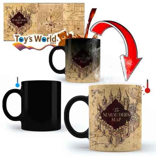 Regalo Perfecto Taza Magica Harry Potter Mapa Del Merodeador