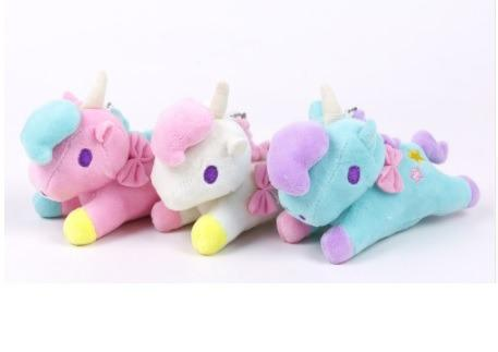 Set 10 Unicornio Llavero Peluche Kawaii Cute