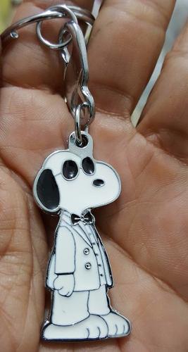 Snoopy Detective Precioso Llavero Metalico Snoopy 1303