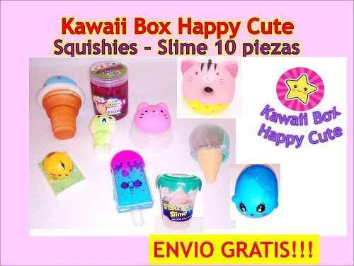Squishy - Squishies - Slime 10 Piezas Kawaii Box + Envio