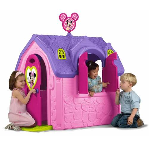 Adorable Casita Rosa De Juegos Minnie Mouse. Disney Feber