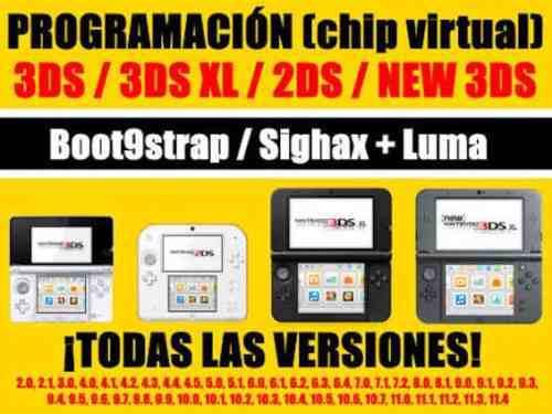 Chip Virtual Desbloqueo Nintendo 3ds Version 11.5/11.6