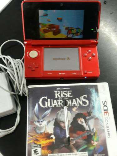 Combo Nintendo 3ds Rojo/juego Rise Of The Guardians/memoria