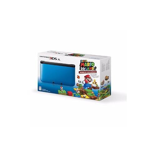 Consola Nintendo 3ds Xl Con Super Mario 3d Blue