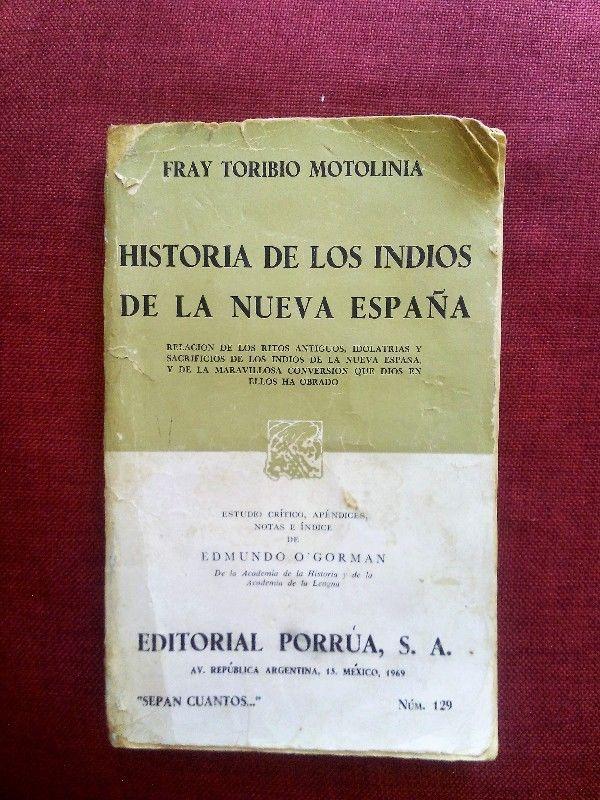 Historia De Los Indios De La Nueva España. Porrúa