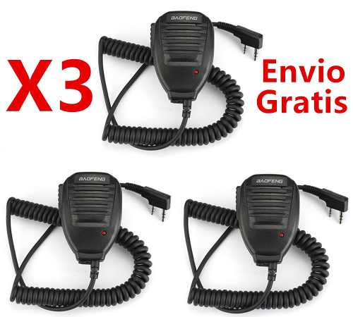 Lots De 3 Microfono De Solapa Para Radio Baofeng Kenwood