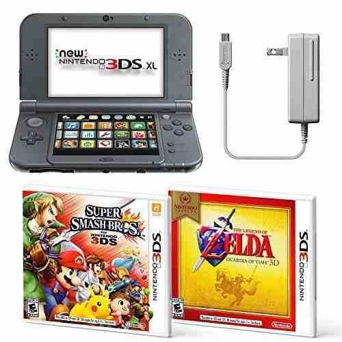 Negro Nintendo 3ds Xl Bundle Adaptador De Ca De Nintendo...