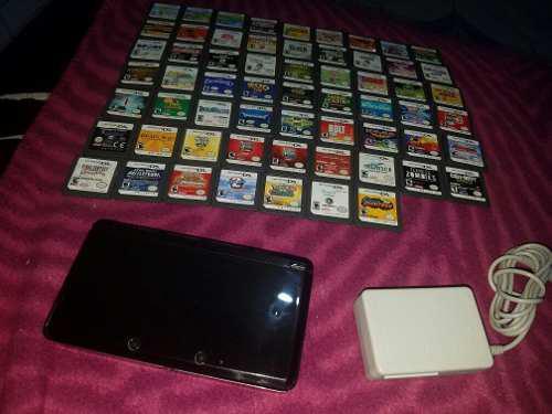 Nintendo 3ds Negro Con Juegos Integredos Envio Gratis Dispon