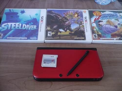 Nintendo 3ds Xl Con 4 Juegos Mario Kart 7, Monster Hunter