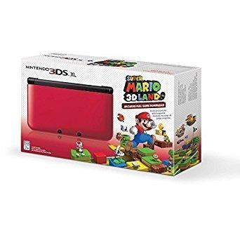 Nintendo 3ds Xl Rojo / Negro Con Super Mario 3d Tierra Des