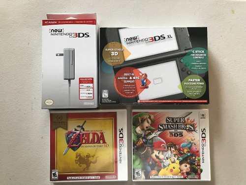 Nuevo Combo Nintendo 3ds Xl Con 2 Juegos Y Cargador