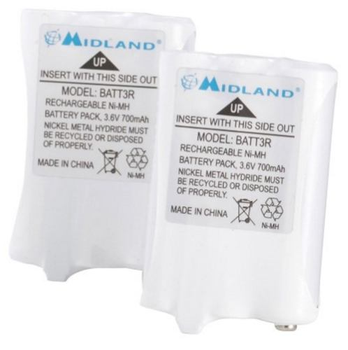 Paquete De Baterías Recargables Nimh Midland Batt3r Avp14