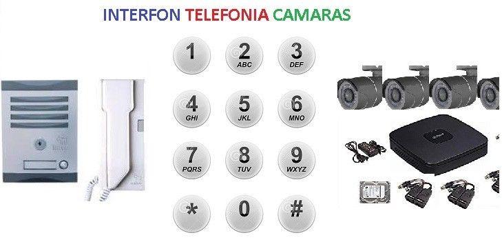reparación interfono conmutadores y cámaras de vigilancia