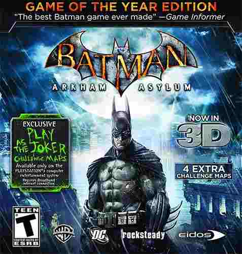 Batman: Arkham Asylum Edicion Juego Del Año+joker-pc