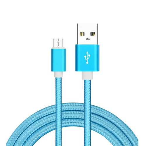 Cable V8 Reforzado Puntas Metalicas 1.5 Metros 5 Colores