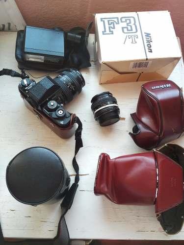 Camara Nikon F3/t Lentes Nikkor Af  Y 50 Mm Flash Sb-12
