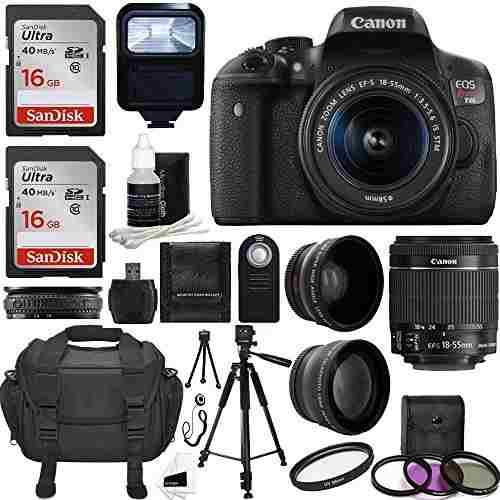 La Cámara Canon Eos Rebel Dslr T6i Cmos Digital Slr Con Ef-