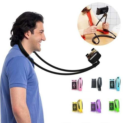 Lazy Neck Phone Holder Soporte Celular Cuello Flexible Auto