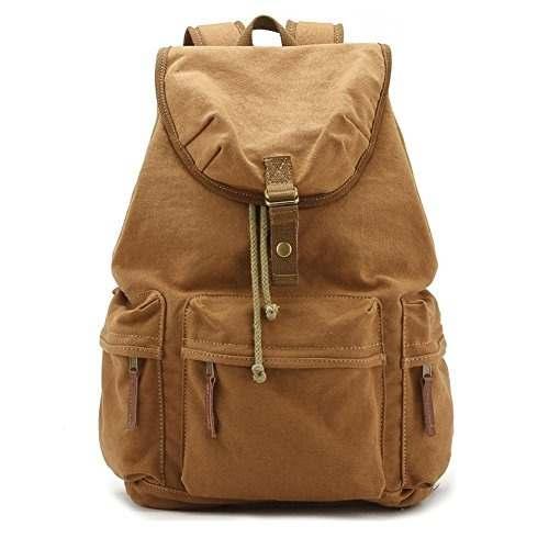 Yimidear Canvas Dslr Slr Camera Backpack Rucksack Bag With S