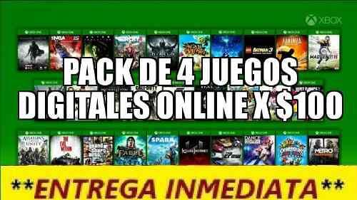 4 Juegos Para Xbox One Online A $100 Armalo Como Quieras