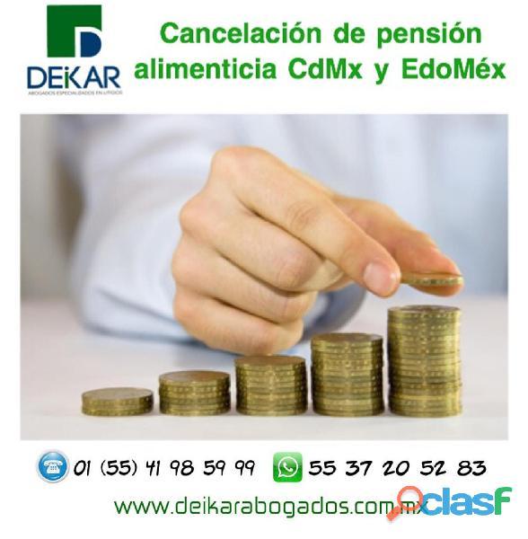 CANCELACIÓN DE PENSIÓN ALIMENTICIA CDMX Y ESTADO DE