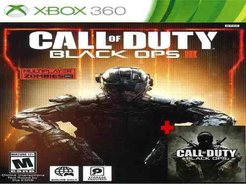 Call Of Duty: Black Ops 1 Y 3 Xbox 360 - Xbox One