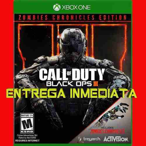 Call Of Duty Black Ops 3 Edicion Zombies Xbox One Offline