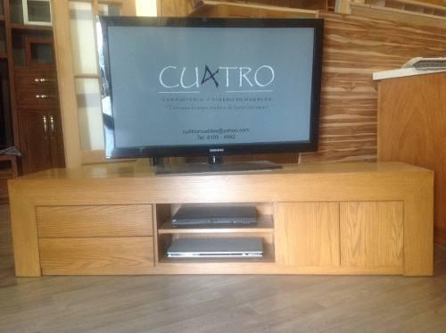 Centro De Entretenimiento, Mesa Para Tv 1.80 Ms Encino