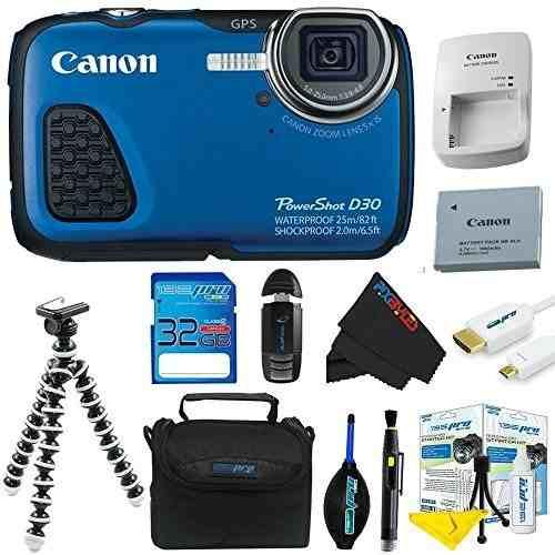 Cámara Digital A Prueba De Agua Canon Powershot D30 (azul)