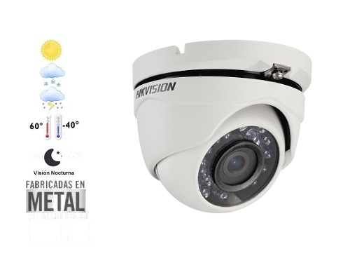 Cámara Domo p 2 Mp Gran Angular 2.8mm Hikvision Metal