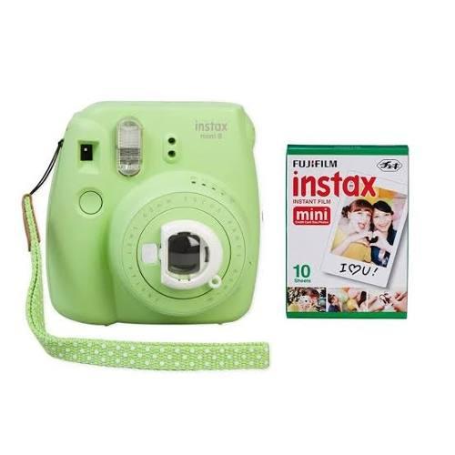 Cámara Fujifilm Instax Mini 9 Verde Lima Nueva + 1 Rollo