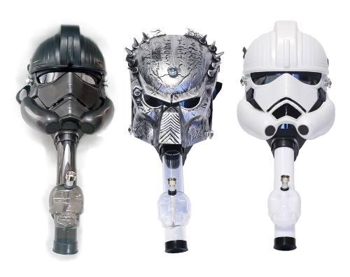 Gas Mask Bong Predator O Star Wars Pipa De Agua C/mascara