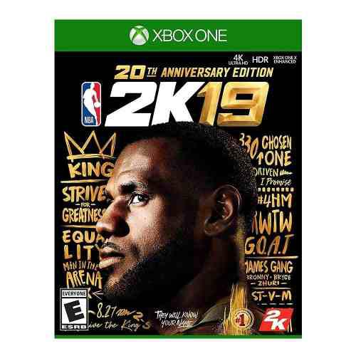 Juego Para Xbox One 4k Hd Nba 2k19 20th Anniversary