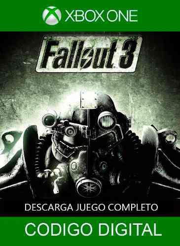 Juego Xbox One/360 Fallout 3 Envio Inmediato