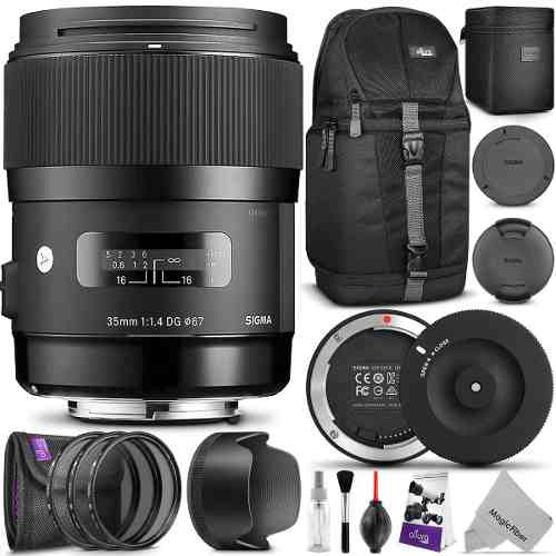 Kit Lente Sigma 35mm F1.4 Art Dg Hsm Dock Usb Para Canon