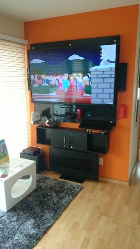 Mueble Tv, Muro, Panel Pantallas Centro De Entretenimiento