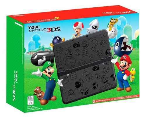New Nintendo 3ds Super Mario Black Edition Colección Usada