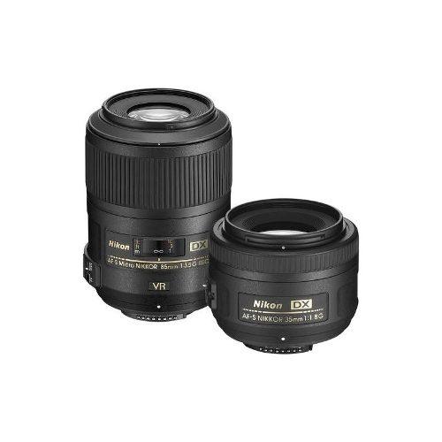 Nikon - 35mm F / 1.8g Retrato Y 85 Mm F / 3.5g Macro Dos Kit