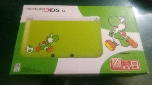 Nintendo 3ds Xl Yoshi Edition+18 Juegos Digitales+1juego Fis