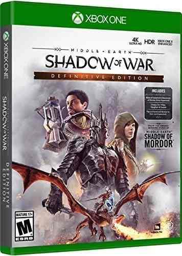 Shadow Of War Definitive Edition Para Xbox One Nuevo