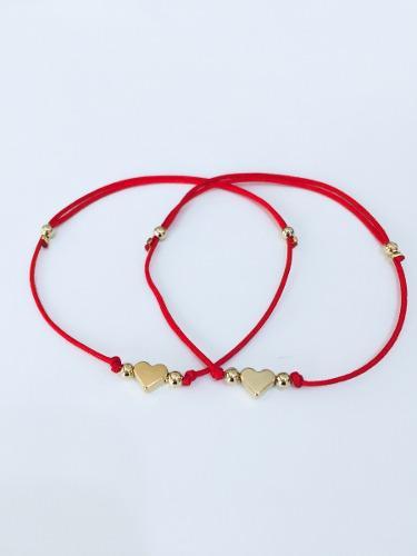 1 Pulsera Hilo Rojo Destino Pareja Promesa Amor Cada Una