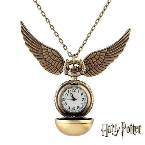 Collar Dije Snitch Harry Potter En Estuche