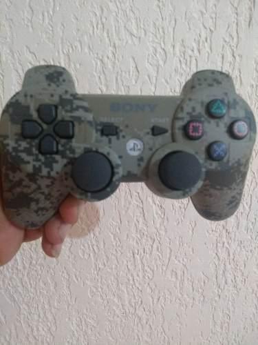 Control Para Ps3 Inalambrico Camuflaje Verde En D# Gamers