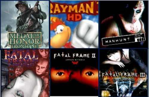 Pack De 6 Juegos Moh, Fatal Frame, Manhunt,etc Para Ps3.