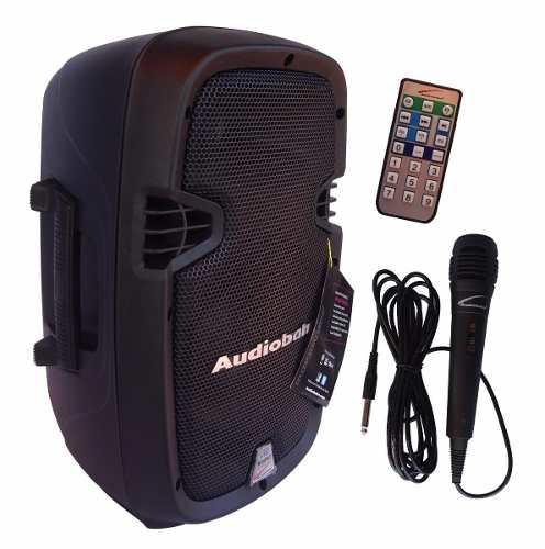 Bafle Bocina 8 Amplificada Recargable Bluetooth Audiobahn